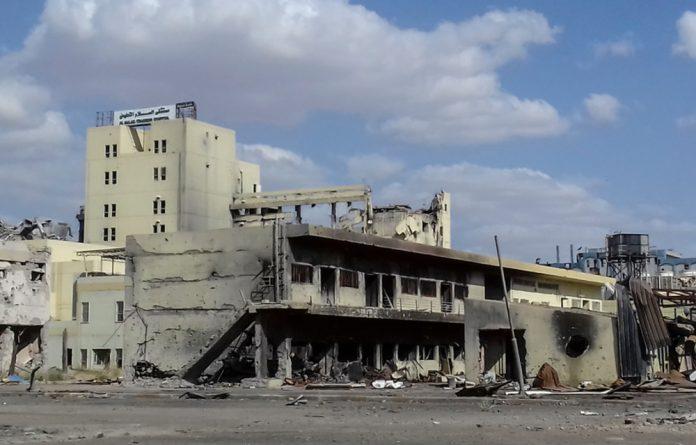 Al Salam hospital destroyed during the battle for Mosul.