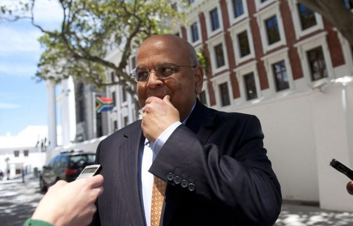 Finance Minister Pravin Gordhan before the medium-term budget policy speech at Parliament in Cape Town.