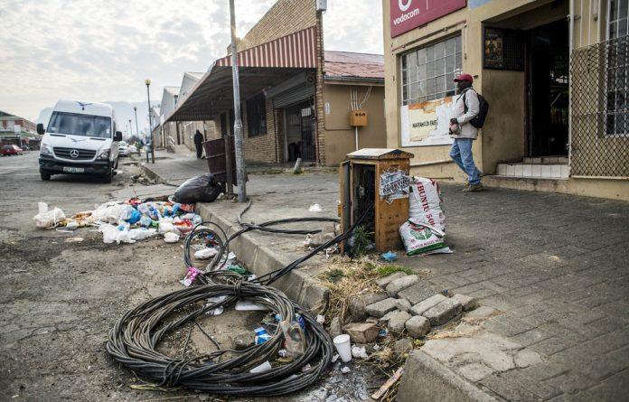 Harrismith's streets are potholed