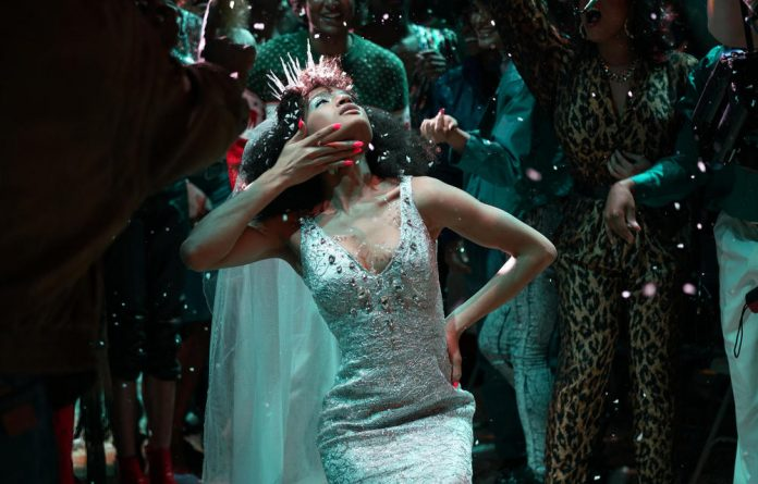 Having a ball: Indya Moore parades a wedding dress as the character Angel in Pose