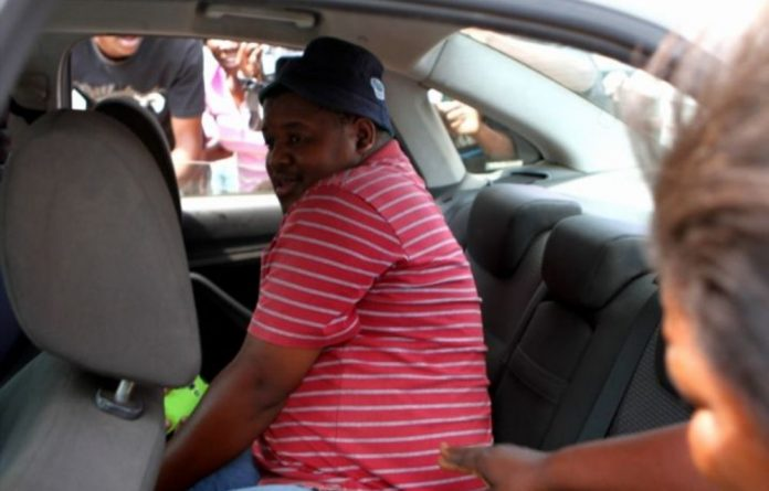 One of the suspected police officers who dragged taxi driver Mido Macia behind a police van in Daveyton.