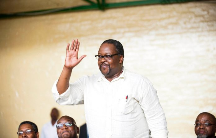 Police Minister Nkosinathi Nhleko managed to introduce the bizarre videos with a straight face.