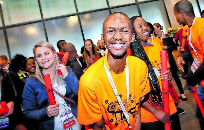 Youth enjoy the 2018 South African Innovation Summit held at Cape Town Stadium.