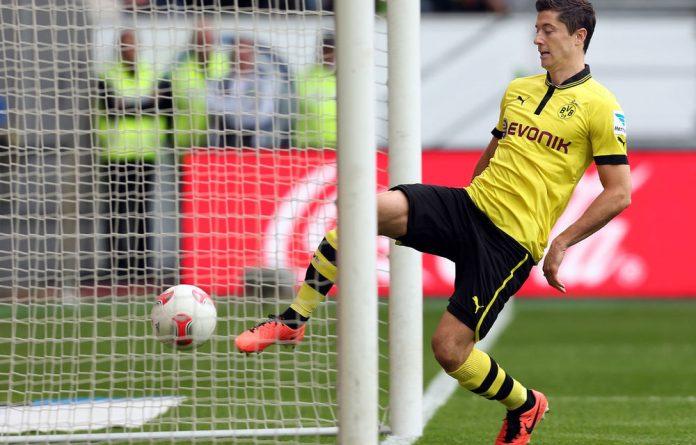 Borussia Dortmund striker Robert Lewandowski.