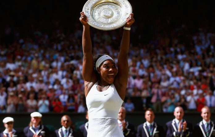 Glory: Serena Williams is the best ever women's tennis player after capturing a sixth Wimbledon title.