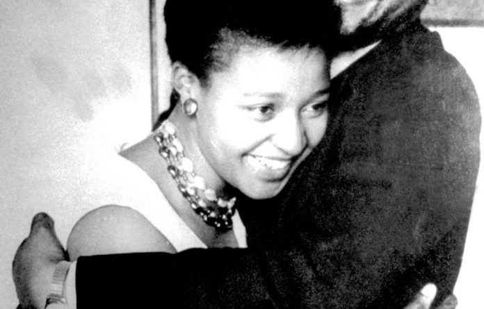 Winnie Madikizela-Mandela with former president Nelson Mandela while they were still married.