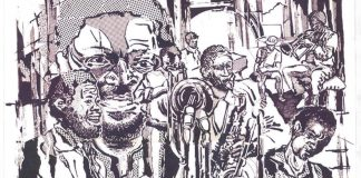 In tune: In this poster by artist Thami Mnyele for Jonas Gwangwa's Shakawe ensemble