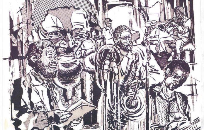 In tune: In this poster by artist Thami Mnyele for Jonas Gwangwa's Shakawe ensemble