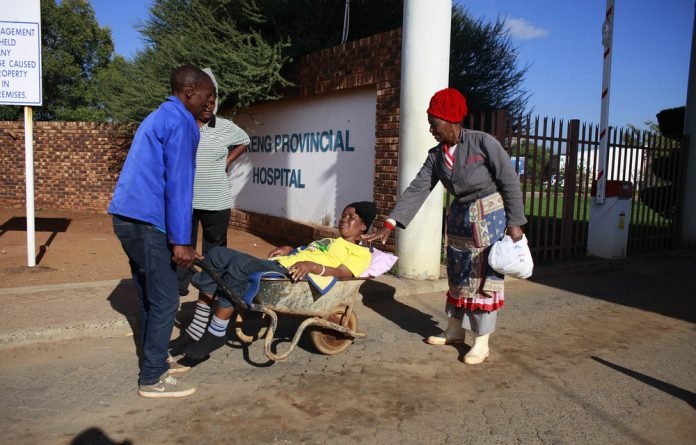 Many nurses did show up for work today at the Mafikeng Provincial Hospital