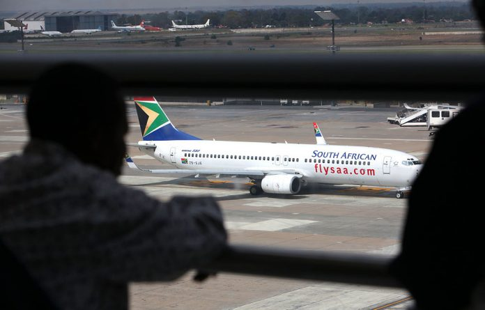 SAA's chief executive was greeted by locked doors when he reported for duty at his Kempton Park office