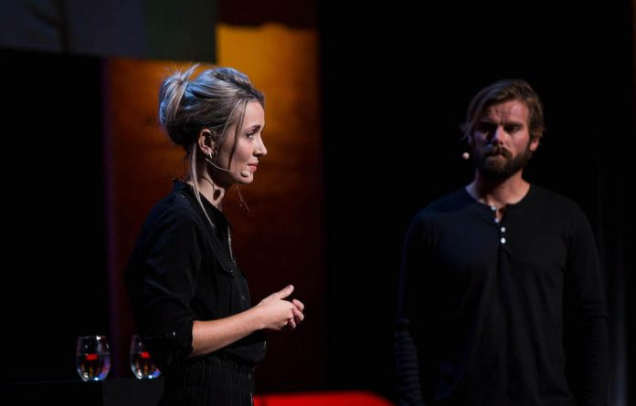 Thordis Elva and Tom Stranger at TEDWomen 2016 - It's About Time