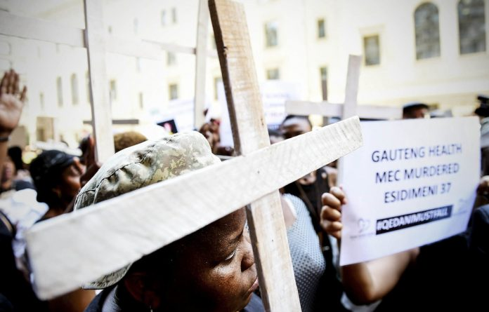 Activists and families of relocated Life Esidimeni patients marched on the department of health last week. The department says it does not know the current death toll among the patients.