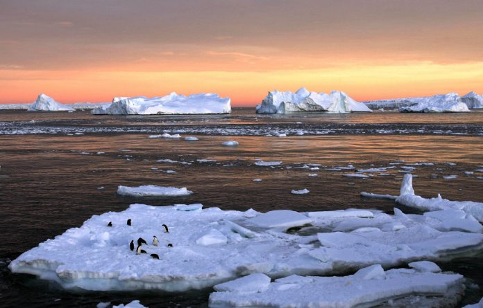 Meltdown: Arctic and Antarctic ice has 'shrunk' by the size of three South Africas.