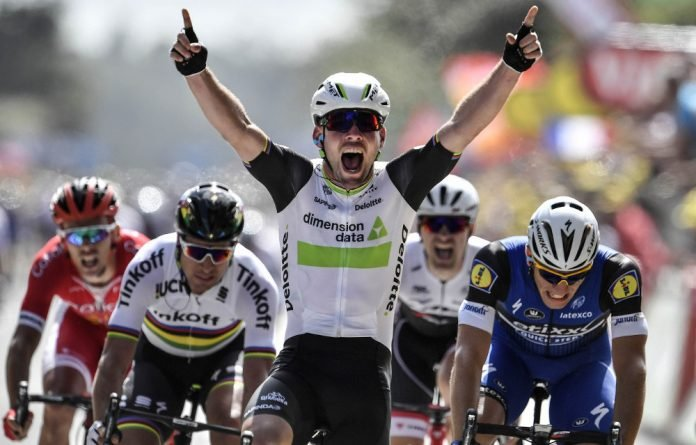 More of the same: Mark Cavendish will be hoping to celebrate more stage victories with the South African Dimension Data team in the Tour de France this year.