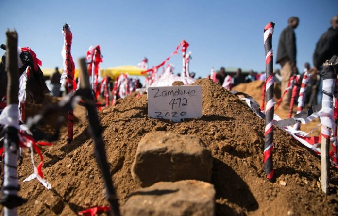 Duduzile Zozo's funeral at the Kromvlei cemetery on the East Rand.
