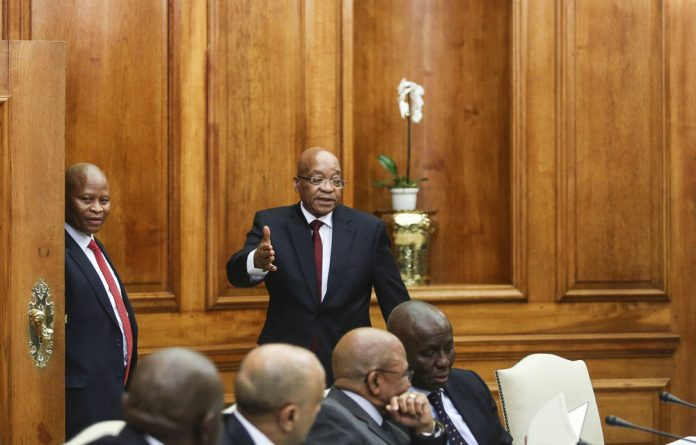 President Jacob Zuma and his Cabinet met Chief Justice Mogoeng Mogoeng and other senior members of the judiciary in 2015 at the request of  Mogoeng after the executive criticised the judiciary.