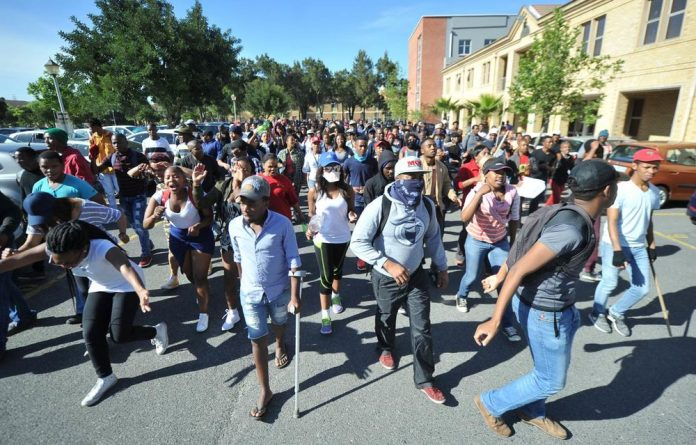 The incident occurred during the third week of #FeesMustFall protests that have rocked universities across the country.