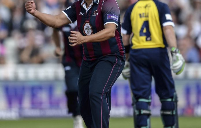 Big hit: Rory Kleinveldt has become a hero at Northamptonshire.