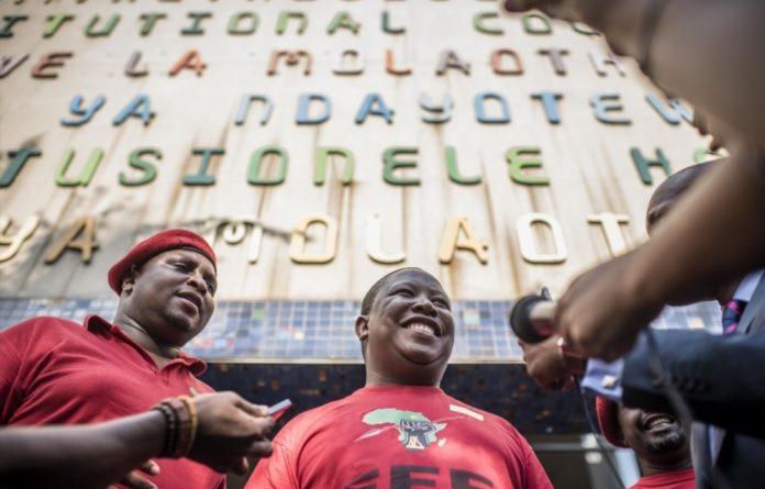 Economic Freedom Fighter leader Julius Malema.