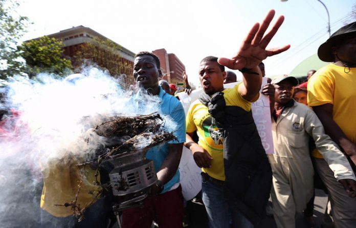 Burning: The rift in the Kwazulu-Natal ANC was evident when the court heard allegations of vote rigging.