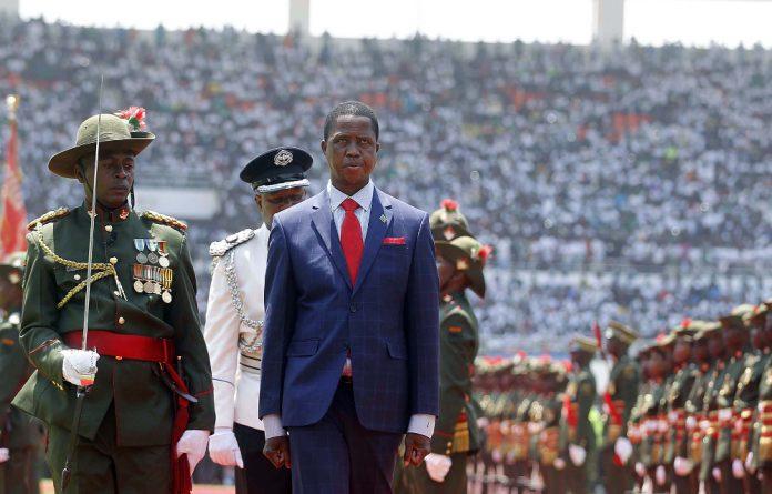 President Edgar Lungu during his inauguration.