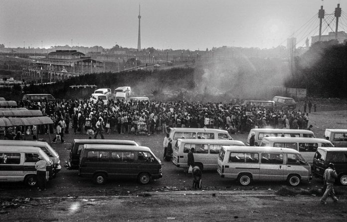 Journey: The busy Bree Street taxi rank