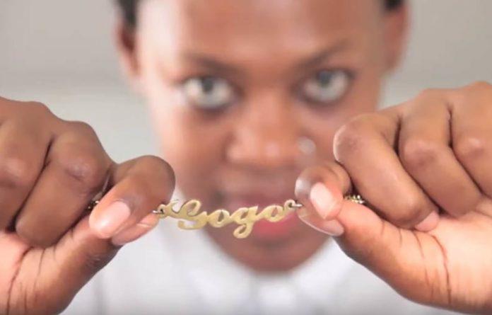A screenshot from one of sangoma Nokulinda Mkhize's videos.