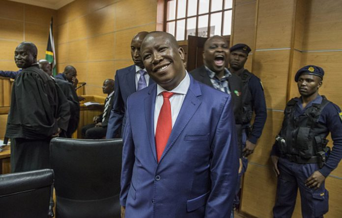 EFF leader Julius Malema has rallied an enthusiastic band of backers through calls for the nationalisation of mines and the curbing of whites' economic power.