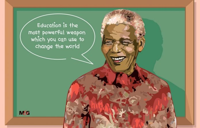 "Nelson Mandela once said: ""Education is the most powerful weapon which you can use to change the world."""