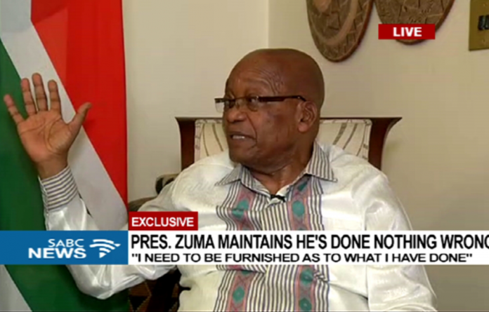 Zuma also delivered what appeared to be a veiled threat to the current ANC leadership