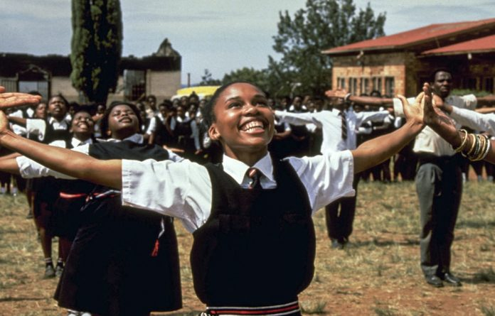 You might not want your child to necessarily watch Sarafina when they are three or read Biko to them at that time