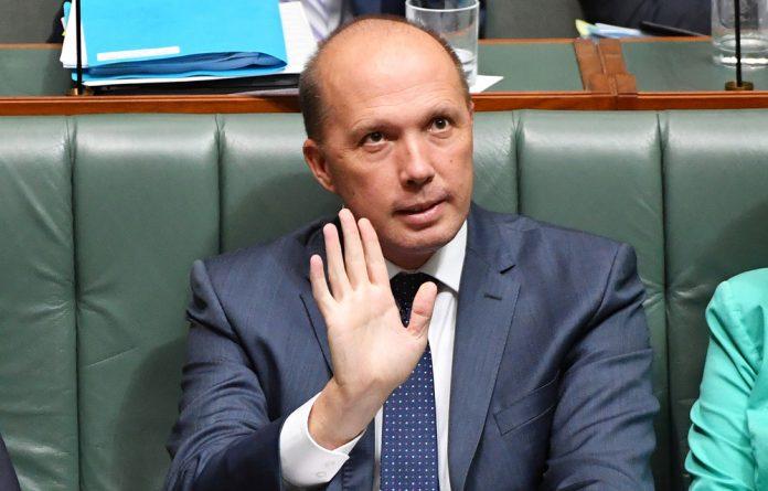 Australian immigration minister Peter Dutton.