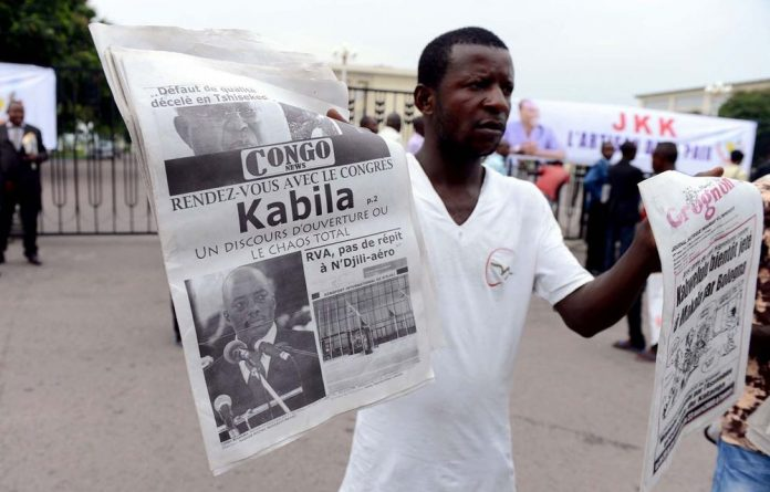The editor of a newspaper in the DRC