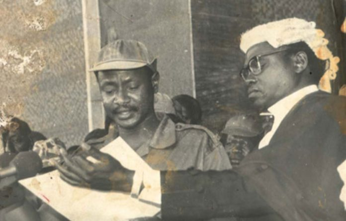 A young President Yoweri Museveni in 1986.