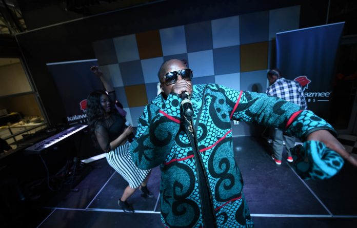 Larger than life: HHP on stage earlier this year. The hip-hop star died on Wednesday. Photo: Lucky Nxumalo/Gallo Images/Sunday Sun