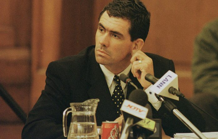 Hansie Cronje during cross-examination at the King commission of inquiry into allegations of cricket match-fixing.