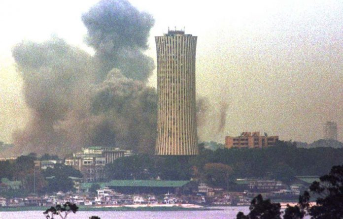 Bombardment by government forces killed thousands in Brazzaville during the Republic of Congo civil war in 1997.