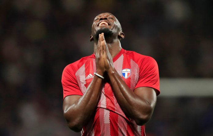 The 100 metres world record-holder scored his first two goals in professional football on Friday.