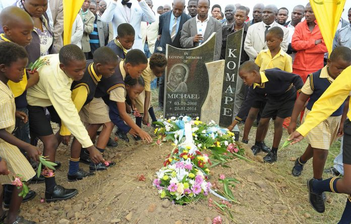 The death of Michael shone the spotlight on poor sanitation at schools