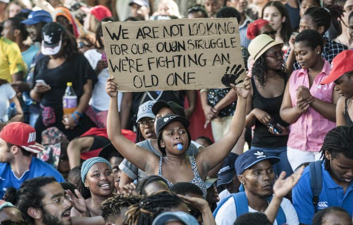 Academic agenda: University of Cape Town students express their views about fees