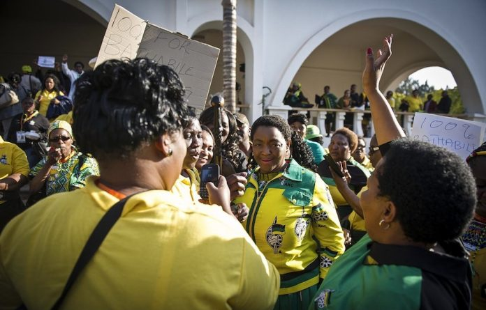 No shame: The ANC Women's League has rallied behind the disgraced social development minister
