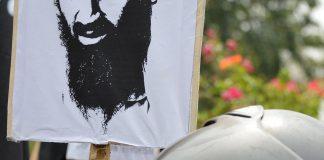 Osama bin Laden poster.