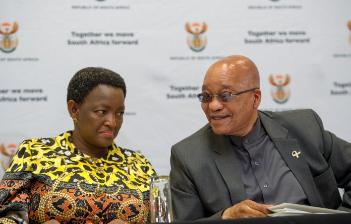 President Jacob Zuma and Minister of Social Development Bathabile Dlamini during the official opening of the Disability Rights Summit held at Saint Georges Hotel in Centurion.