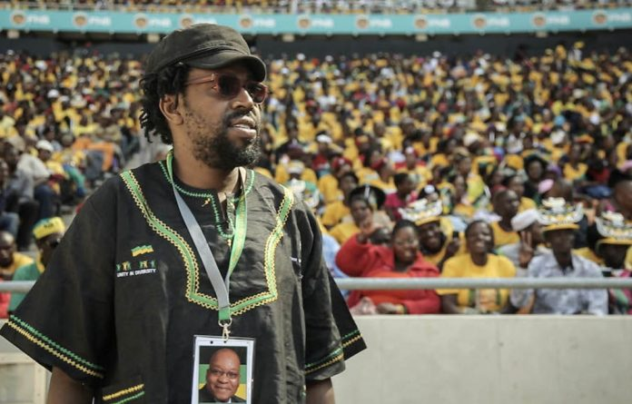 Guest appearance: Kagiso Lediga at the ANC election victory rally at Soccer City where the 'Wonderboy for President' team filmed their 'stolen shots'.