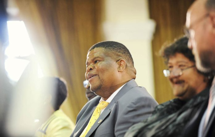 David Mahlobo was sworn in as minister of state security this year.