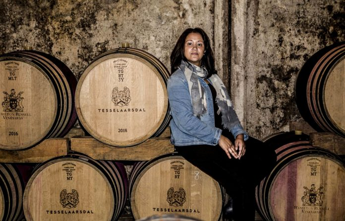 Against all odds: Berene Sauls initially struggled to discern the flavours in wine but has developed a fine palate. Photos: Supplied