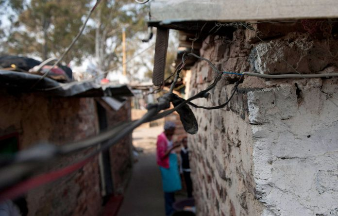 Exposed electricity cables pose a danger at Nokuthula Special School.