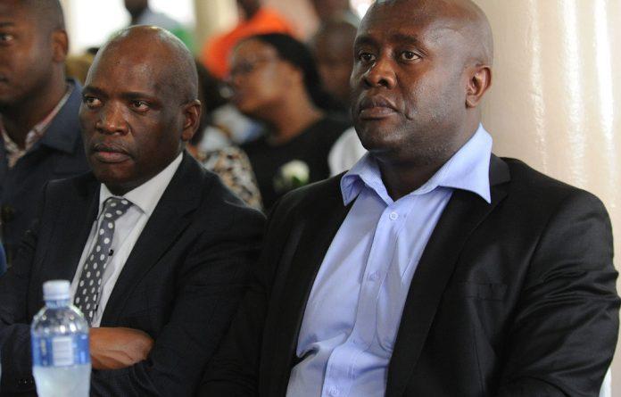 James Aguma with Hlaudi Motsoeneng.