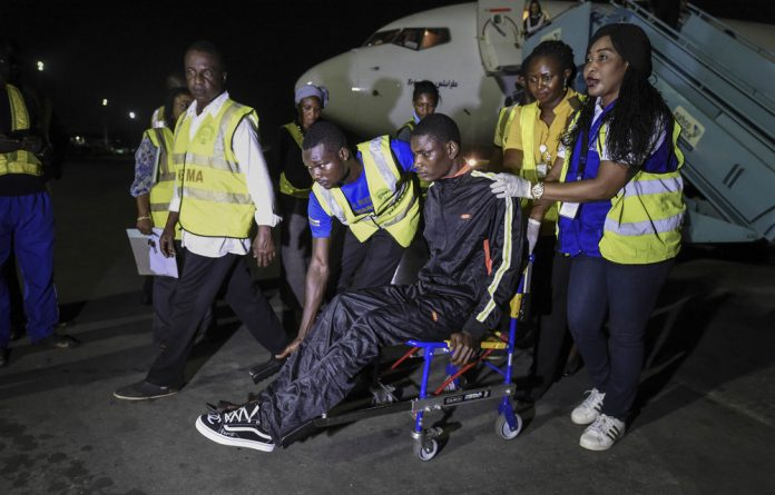 Shattered dreams: 150 migrants were recently flown back to Nigeria from Libya