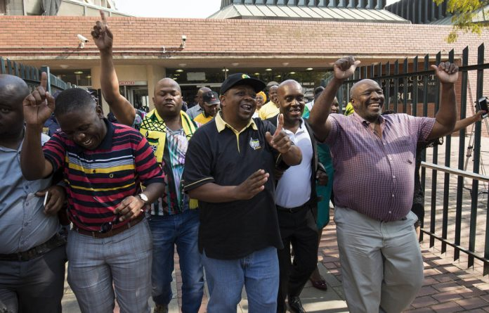 ANC councillor Lawrence Dube celebrated the court's decision that the KwaZulu-Natal provincial leadership election was void